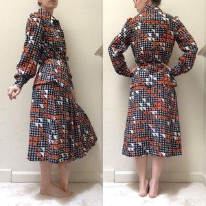 Vintage Belgian Skirt Collared Blouse Set